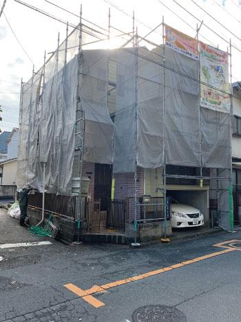 外壁塗装/工事中1